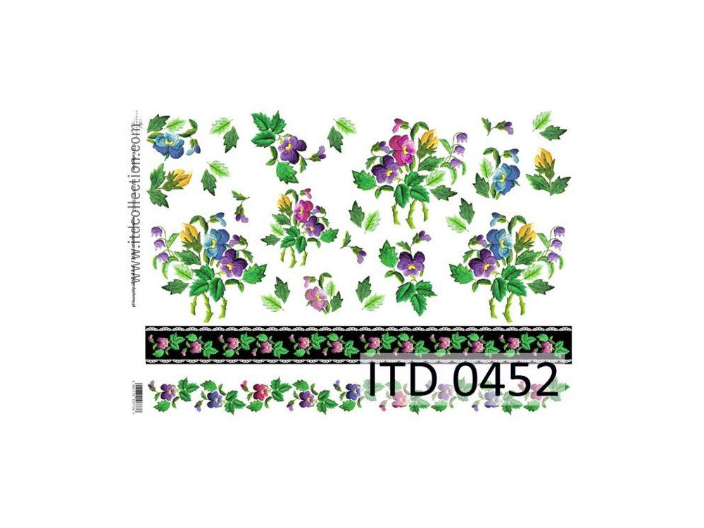 Decoupage paper A4 - ITD Collection - classic, 0452