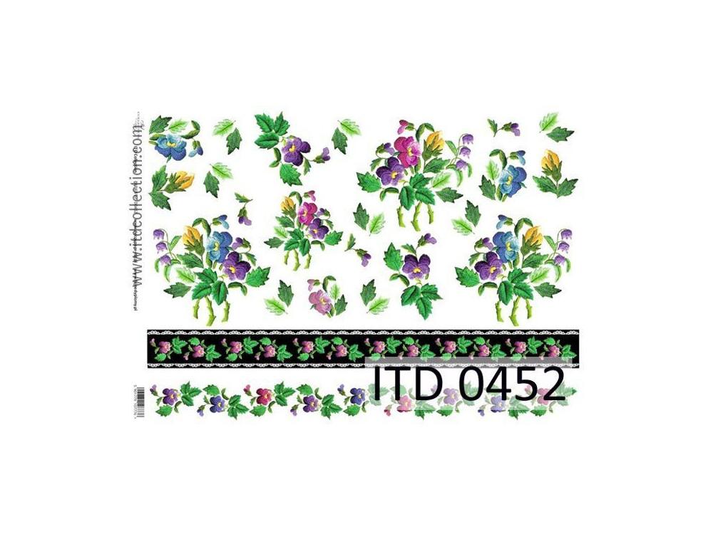 Papier do decoupage A4 - ITD Collection - klasyczny, 0452