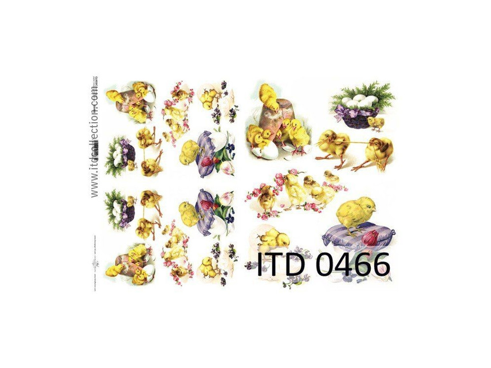 Decoupage paper A4 - ITD Collection - classic, 0466