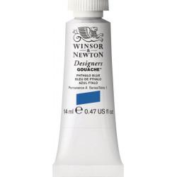 Gouache paint in tube - Winsor & Newton - Phthalo Blue, 14 ml