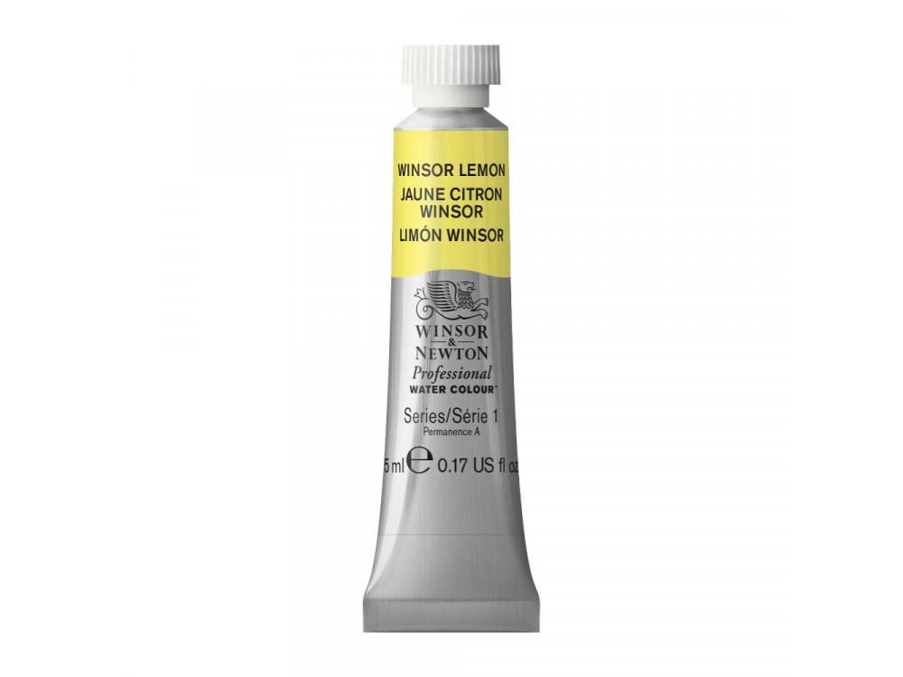 Watercolor paint in tube - Winsor & Newton - Winsor Lemon, 5 ml