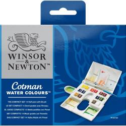 Watercolors Cotman Compact set - Winsor & Newton - 14 colors