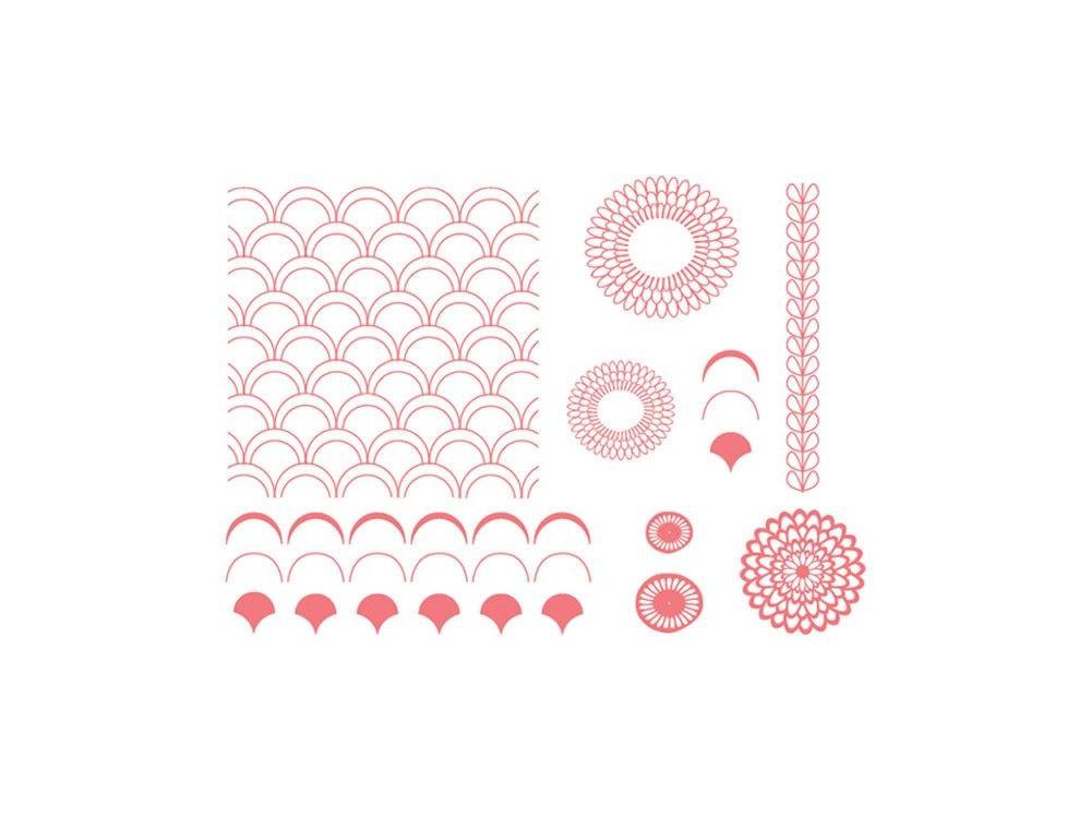 Szablony Letterpress - We R - Petals