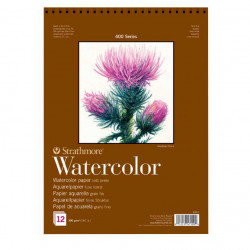 Watercolor paper 18 x 25 cm - Strathmore - 300 g, 12 sheets