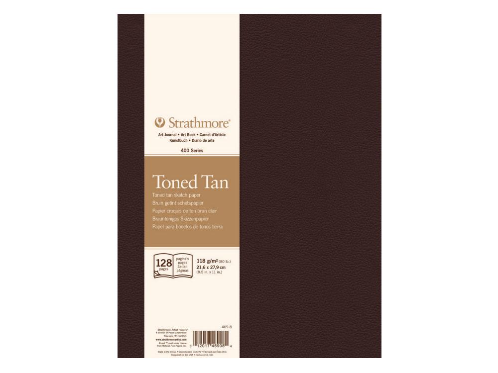 Toned Tan sketch paper 22 x 28 cm - Strathmore - 118 g, 128 sheets