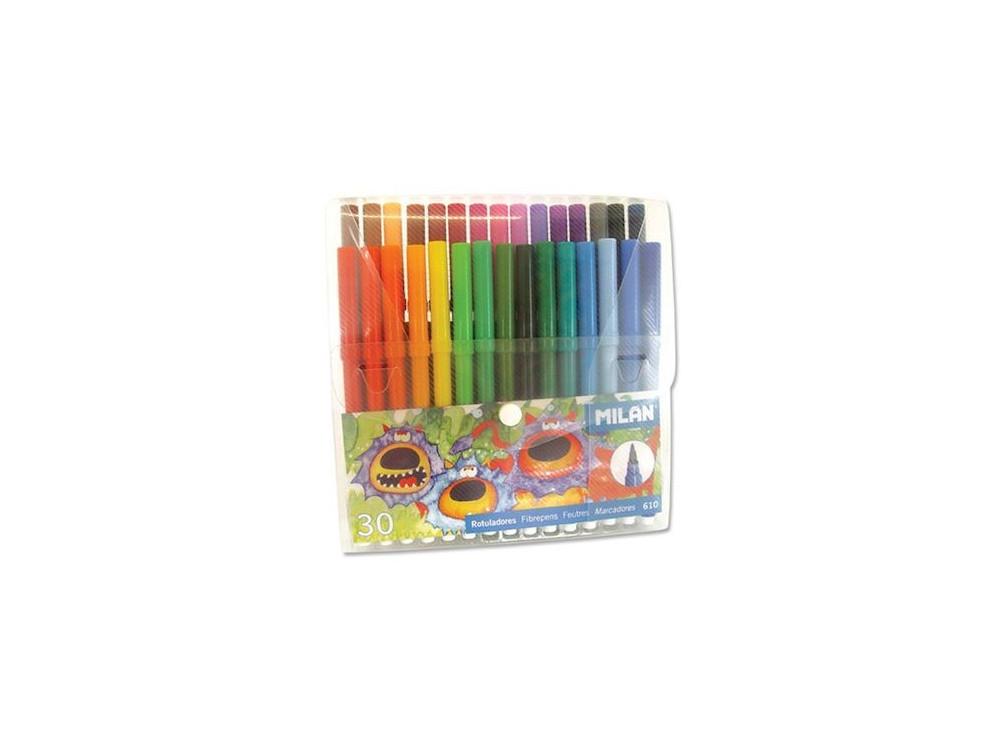 Flamastry w plastikowym etui - Milan - 30 kolorów