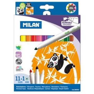 Flamastry wymazywalne mazaki 12 szt. MILAN
