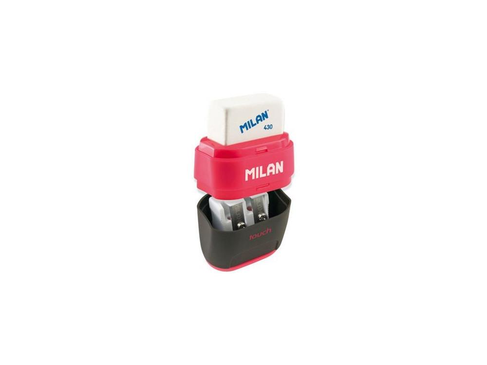Temperówka i gumka Compact Rubber Touch 2w1 - Milan