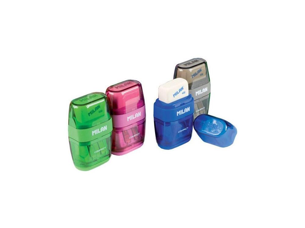 Temperówka i gumka Compact 2w1 - Milan
