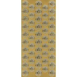 Stickersy, naklejki ażurowe - IHS, złote