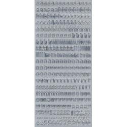 Stickers - Alphabet (lower case) 268 Silver