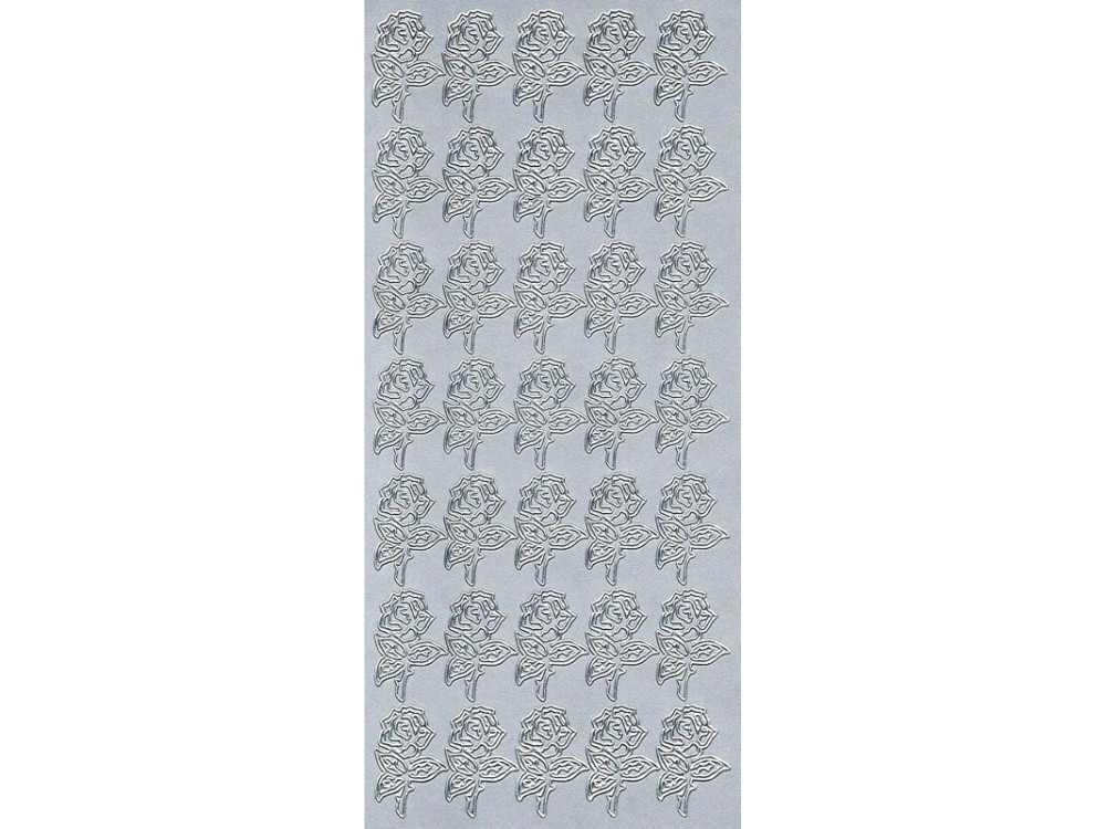 Stickers - Roses 200 Silver