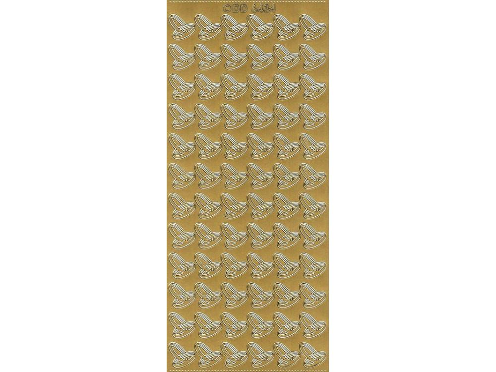 Stickersy, naklejki ażurowe  - Obrączki, złote