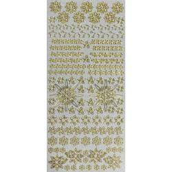 Stickersy, naklejki ażurowe - Gwiazdki, śnieżynki, perłowe