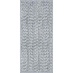 Stickersy, naklejki ażurowe - Sto Lat, srebrne