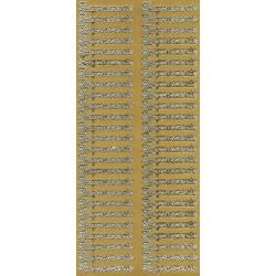 Stickersy, naklejki ażurowe - Zaproszenie, złote