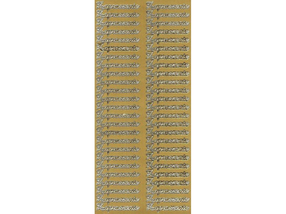 Stickers - Zaproszenie 2839 Gold