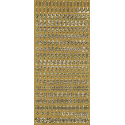 Stickers - Digits 269 Gold