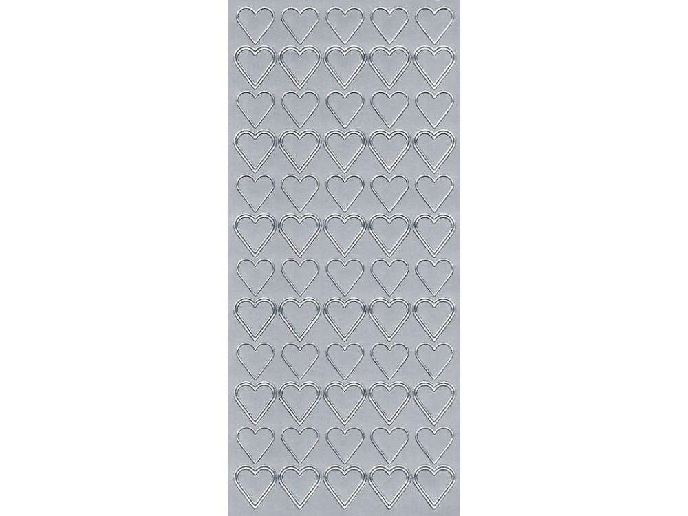 Stickers - Hearts 81 Silver
