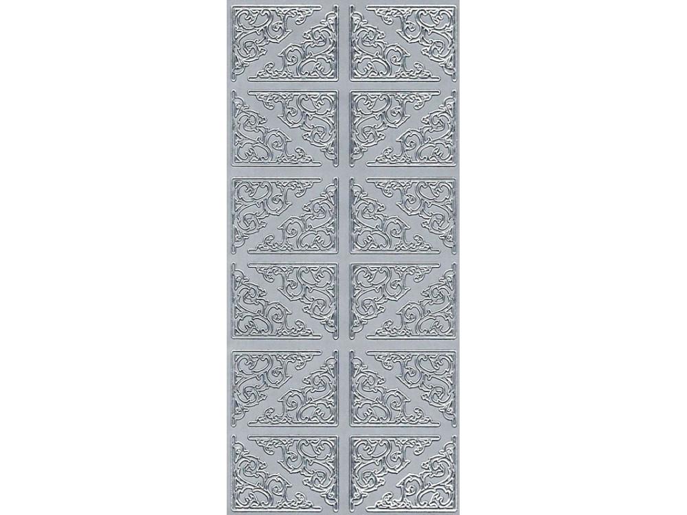 Stickers - Corners 545 silver
