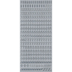 Stickers - Digits 269 Silver