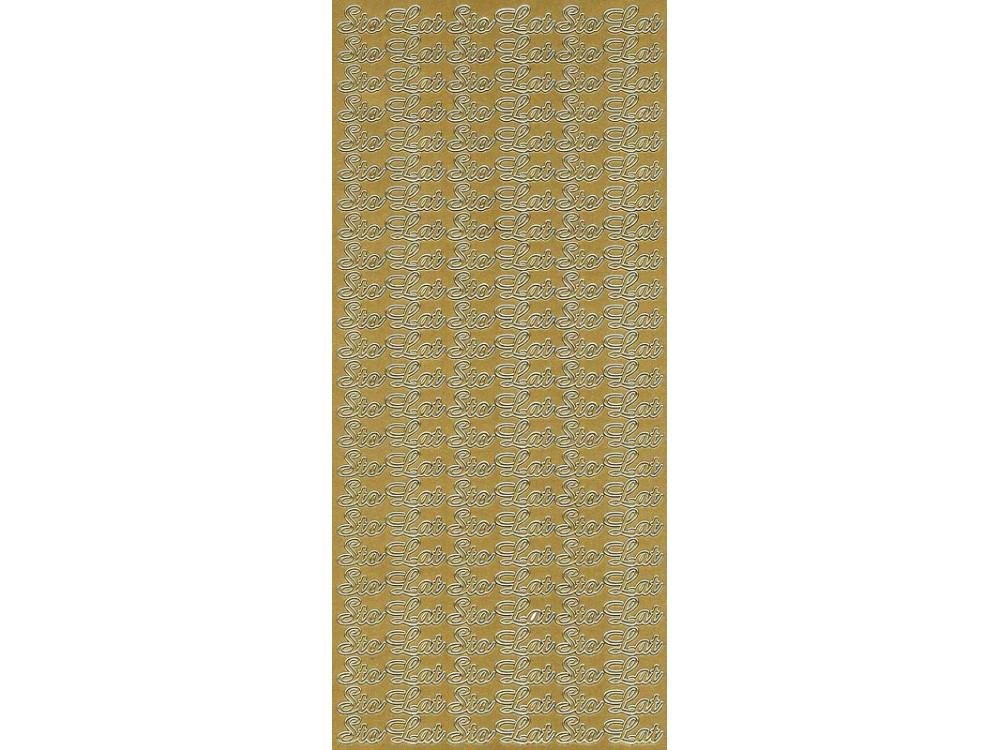 Stickersy, naklejki ażurowe - Sto Lat, złote