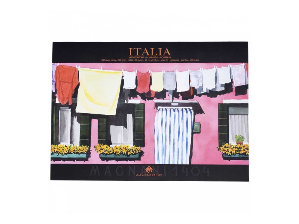 Watercolor cotton paper Italy A3 - Mangani 1404 - 300 g, 10 sheets