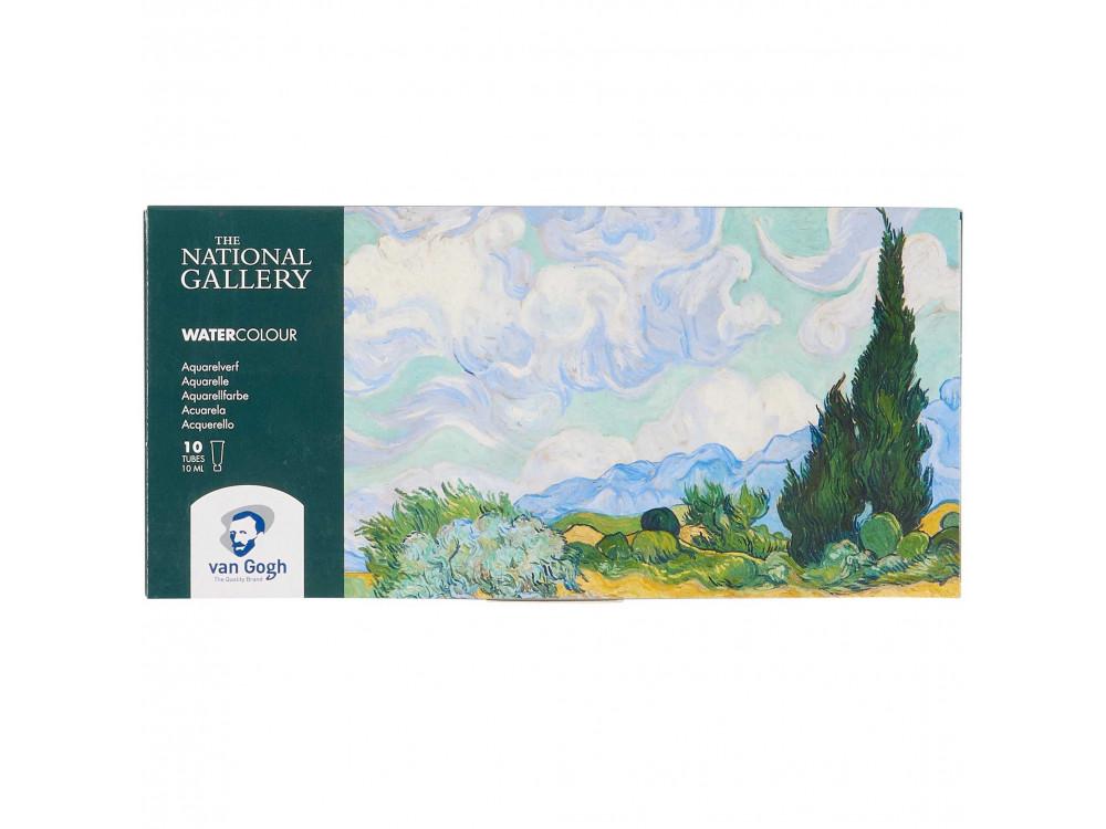Watercolor paints in tubes - Van Gogh - 10 colors x 10 ml