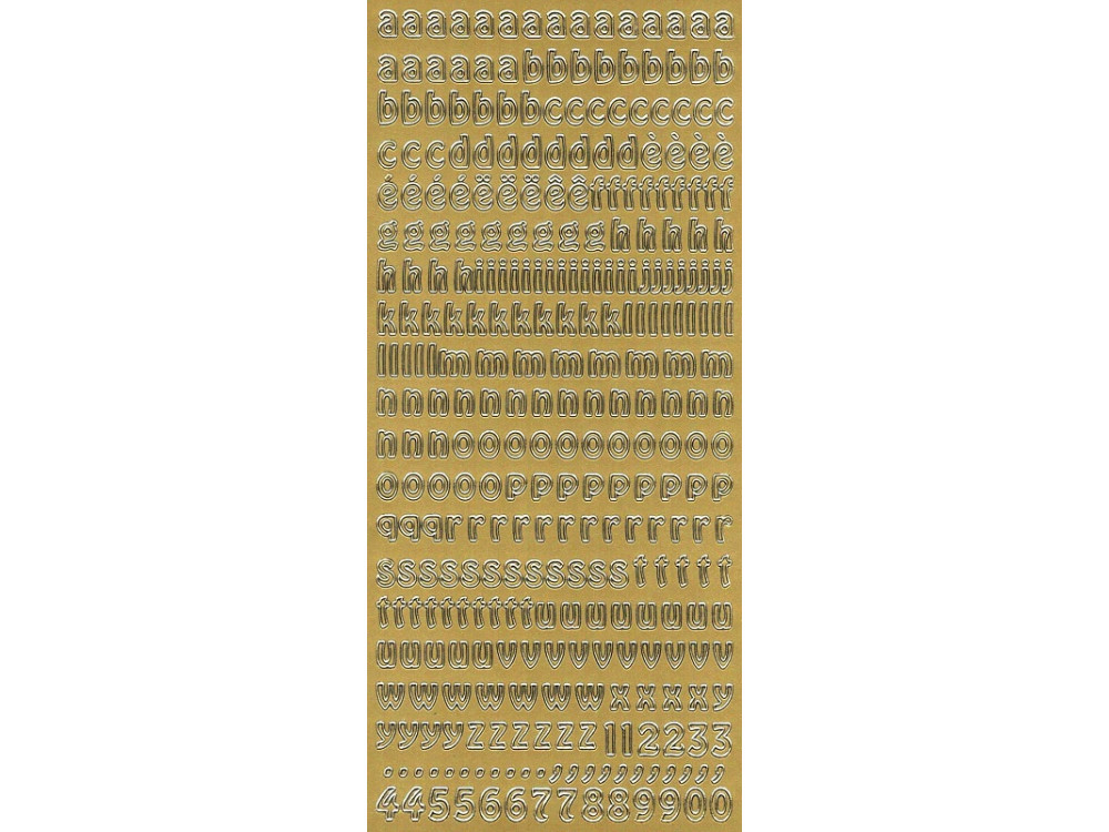 Stickers - Alphabet (lower case)  268 Gold