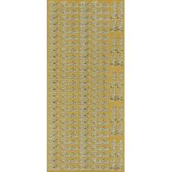 Stickersy, naklejki ażurowe - Dla Ciebie, złote