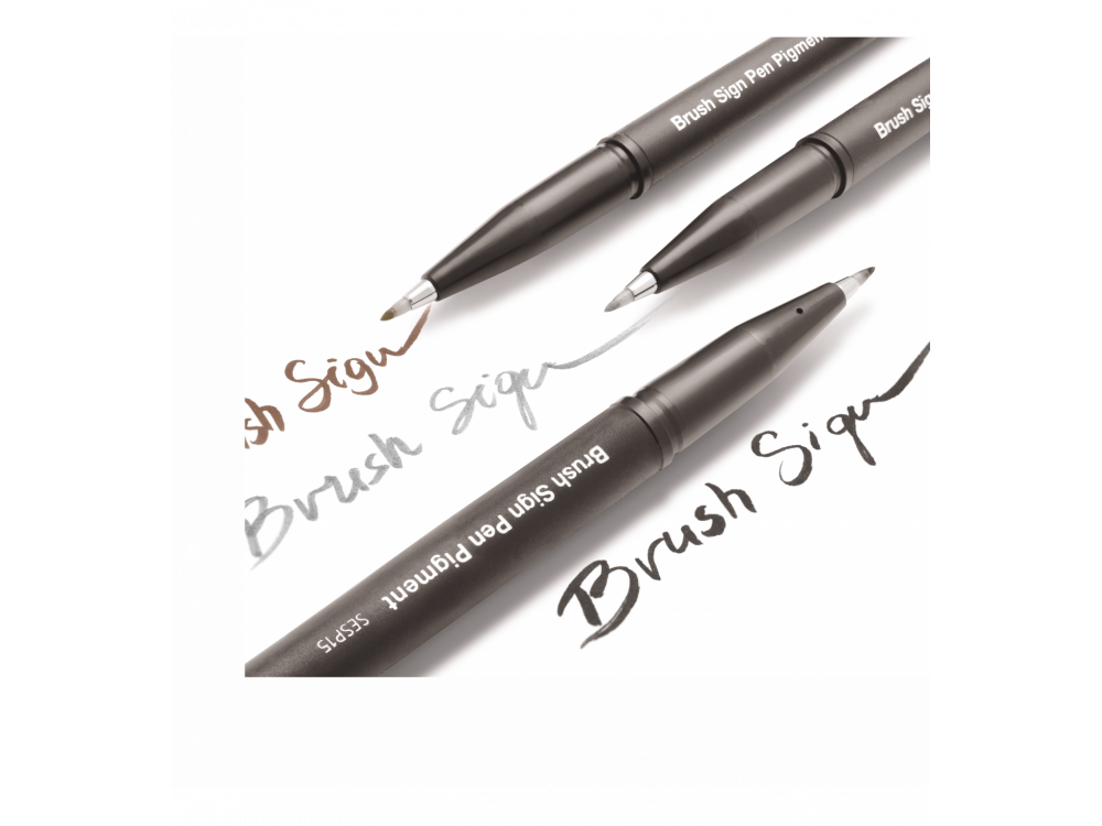 Set of lettering Brush Sign Pen - Pentel - 3 pcs.