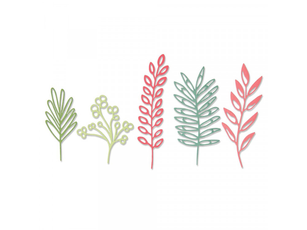 Set of Thinlits cutting dies - Sizzix - Delicate Leaves, 5 pcs.