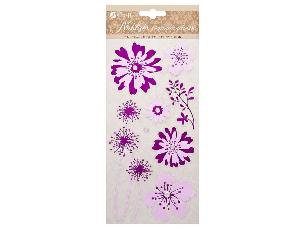 FOIL EMBOSSED STICKER - FLOWERS
