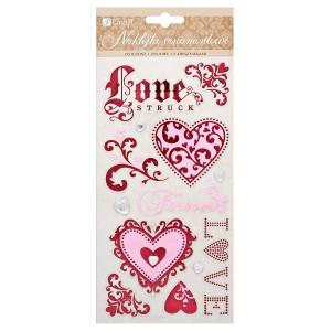 Naklejki ornamentowe tłoczone - Love