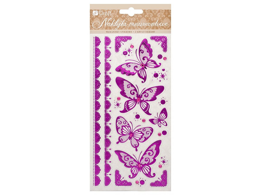 Naklejki ornamentowe tłoczone - motyle 2