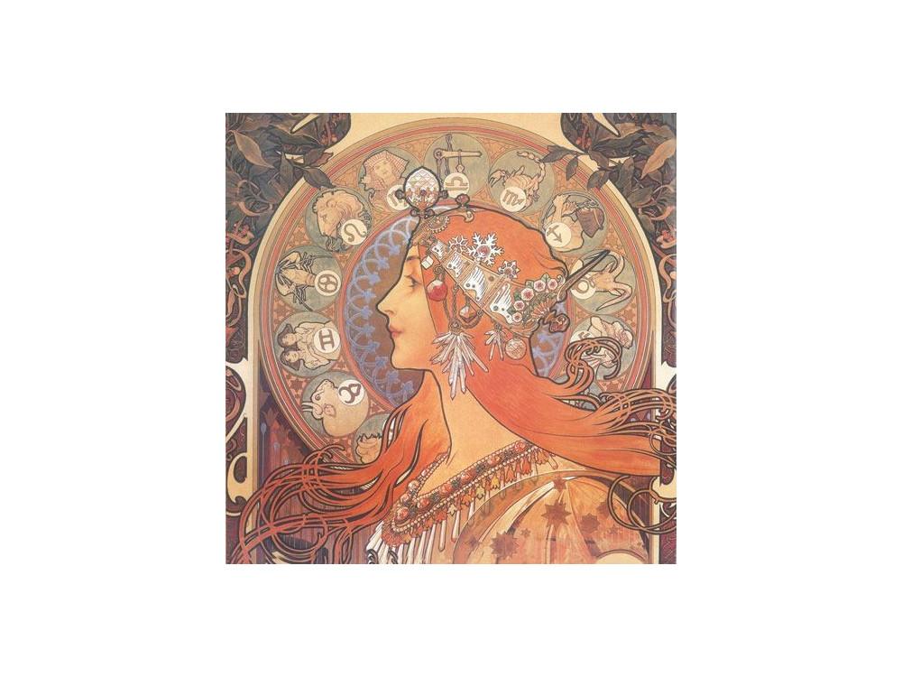 Serwetka ryżowa 50 x 50 cm - Stamperia - Alfons Mucha - Posters I