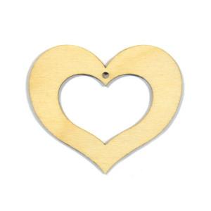Serce puste sklejka 7 cm drewno DECOUPAGE
