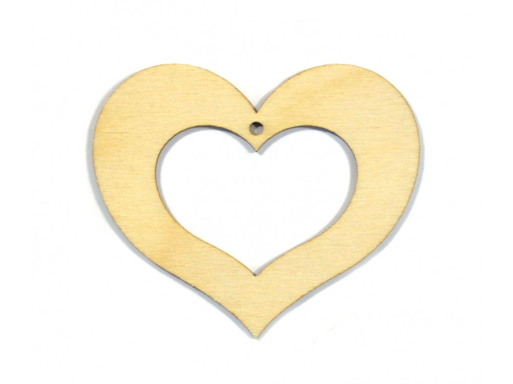 Wooden Plywood Heart 7 cm