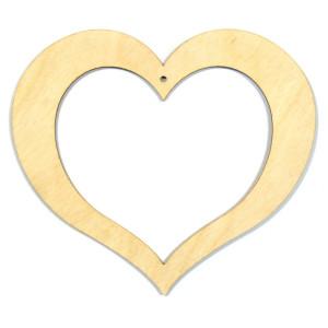 Serce puste sklejka 13,5 cm drewno DECOUPAGE