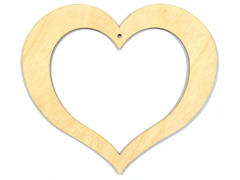 Serce puste sklejka 13,5 cm