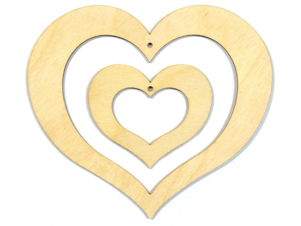 Serce 2 w 1 sklejka 13,5 cm