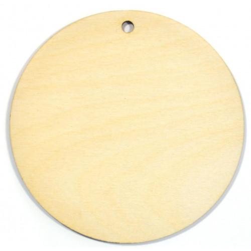 Zawieszka drewniana koło 10 cm do ozdabiania