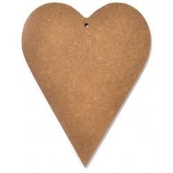 Serce drewniane do ozdabiania MDF - 20 x 15,8 cm