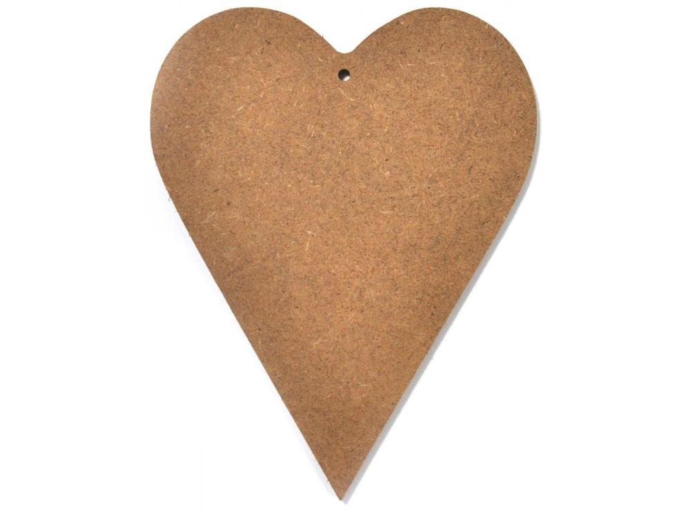 Serce drewniane do ozdabiania MDF  - 25 x 17 cm