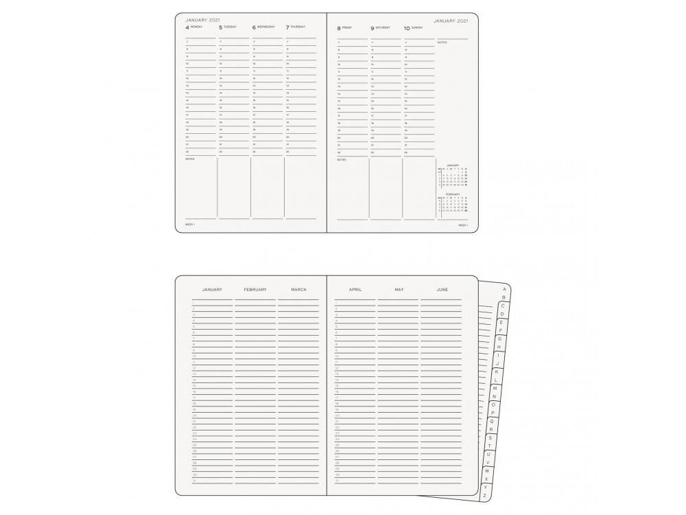 Weekly Planner 2021 - Leuchtturm1917 - Navy, hard cover, A5