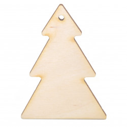 Wooden Christmas tree pendant - Simply Crafting - 7,5 cm