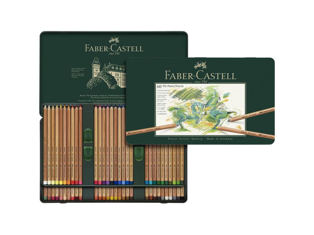 Pitt Pastel pencil set in metal tin - Faber-Castell - 60 colors