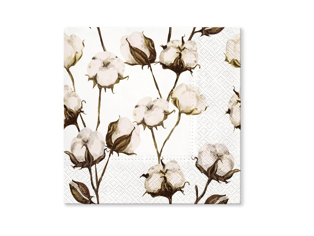 Decorative napkins - Paw - Cotton Branches, 20 pcs.